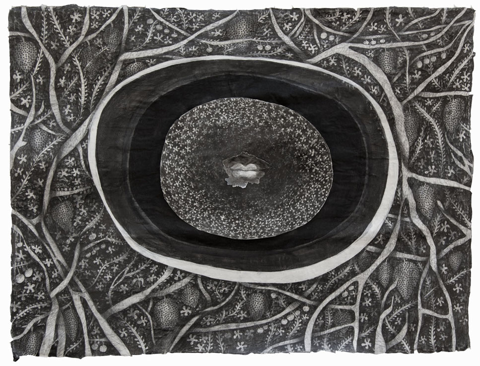 anxiety one, graphite pencil on papier mache board, 56x76cm
